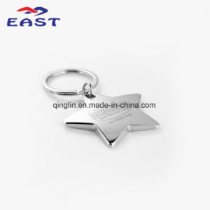 Promotional Star Shape Printed Logo Zinc Alloy Key Ring pictures & photos