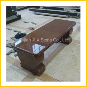 Ruby Red Granite Stone Long Bench for Garden Decor pictures & photos