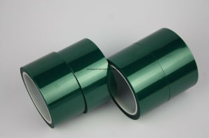 High Temperature Resistance Masking Polyester Tape (Green) pictures & photos