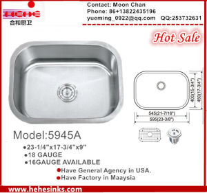 Undermount Stainless Steel Kitchen Wash Basin Kitchen with Cupc Certificate pictures & photos