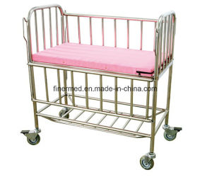Height Adjustable Stainless Steel Hospital Child Cot pictures & photos