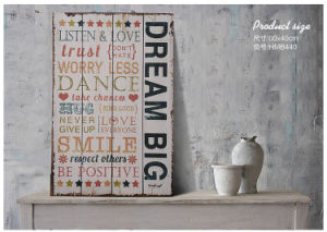 Distressed Wooden Wall Plaque with Sayings pictures & photos