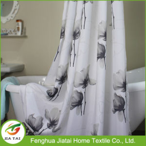 Custom Wide Modern Beautiful Grey Floral Shower Curtain pictures & photos