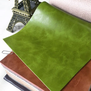 Imitation Microfiber Backing PU Leather for Decortation Upholstery (HS-M378) pictures & photos