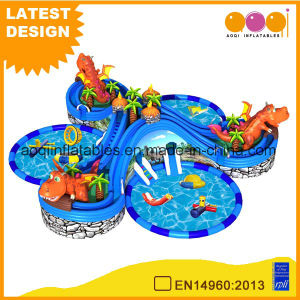 Jurassic Summer Slide Inflatable Water Park Water Pool (AQ01779) pictures & photos