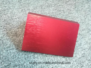 6061 Optional Colored Brushed Anodizing Extrusion Profile pictures & photos