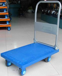 150kg High Quality Plastic Platform Hand Cart Folding Pallet Industrial Trolley pictures & photos