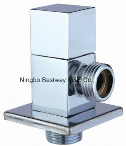 Brass Hexagonal Toilet Angle Valve with Zinc Handle pictures & photos