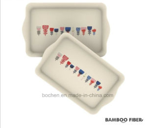 BPA Free Eco Bamboo Fiber Print Tray (BC-T1012) pictures & photos
