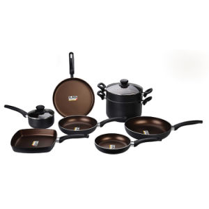 Ilag 2-Layers Nonstick Aluminum Pots and Pans Cookware Set pictures & photos
