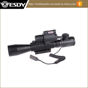 3-9X40e Red Green DOT Airsoft Riflescope with M6 Red Laser Sight LED Flashlight pictures & photos