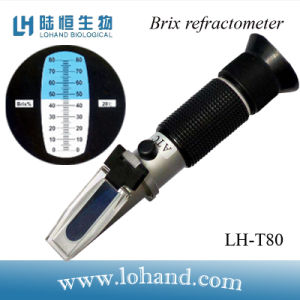 Hot Sale 0-80 in Low Price Hand-Held Brix Refractometer (LH-T80) pictures & photos