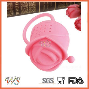 Ws-If063 Food Grade Silicone Rose Tea Infuser Leaf Strainer for Mug Cup, Tea Pot pictures & photos