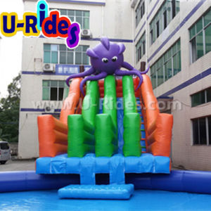 Giant inflatable games Octopus and Shark Inflatable mobile water park water slide for event pictures & photos