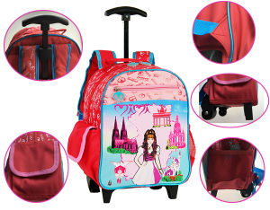 Roling School Backpacks for Girls (BF1608313/BF1608314/BF1608315) pictures & photos