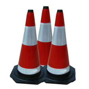 Retractable Traffic Collapsible Cone with Reflective Stripes pictures & photos