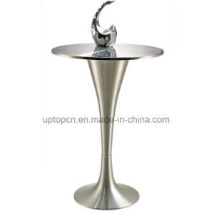 Brushed Stainless Steel Edging Desktop Bar Table with Aluminum Legs (SP-BT640) pictures & photos