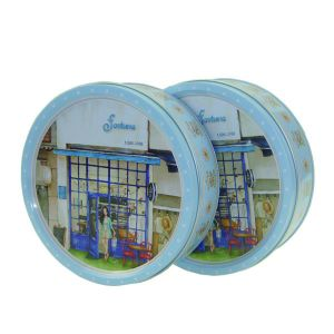 Denmark Cookie Tin Round Shape Plastic Inner Lid pictures & photos