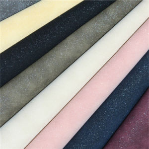 Quality Assurance Synthetic PU Shoe Material Leather Fabrics pictures & photos