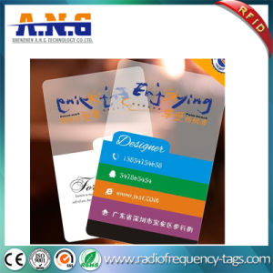High Quality Plastic Transparent Business Card Membership Card pictures & photos