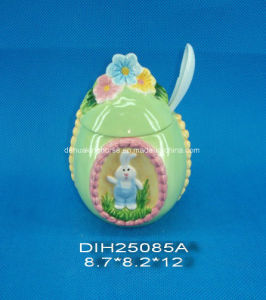 Easter Bunny Ceramic Sugar Jar pictures & photos