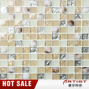 Crackle / Broken Glass Mosai Water Shape Glass Mosaic for Bathroom and Swimming Pool pictures & photos