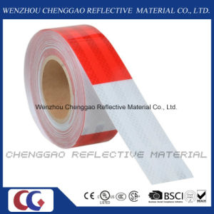 Red and White Mirco Prismatic DOT Reflective Tape for Vehicle (C5700-B(D)) pictures & photos