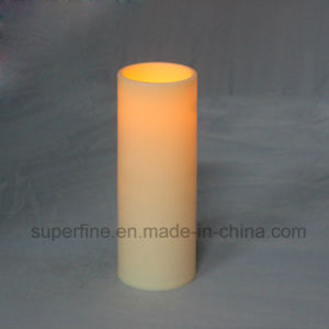 "8"" Long Ivory Pillar Flameless Home Decorative Realistic Flickering Dinner Candle Lights pictures & photos"