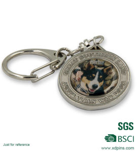 Promotional Cheap Zinc Alloy with Sticker Metal Keychain pictures & photos