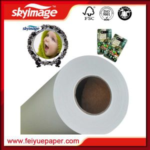 54inch Jumbo Roll 45GSM Non-Curl Sublimation Paper Fast Dry for Textile Printing (Manufacture) pictures & photos