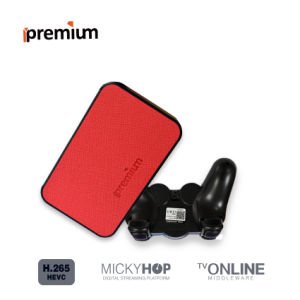 Ipremium Tvonline+ with Leather Cover Mickyhop System and Stalker Middleware Youtube Netflix Dis IPTV Media Player pictures & photos