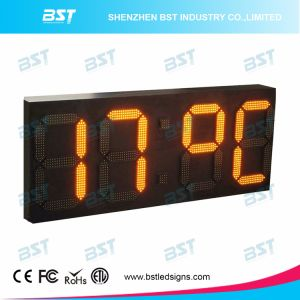 Outdoor Waterproof High Brightness Time & Temperature LED Sign Board pictures & photos