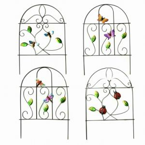 Handmade Spring Garden Decoration Metal Fence Craft-46CMH pictures & photos