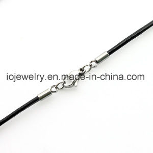 2mm 3mm Brown Black Leather Necklace pictures & photos
