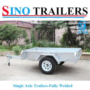 Hot Sale Fully Welded Single Axle Trailers pictures & photos