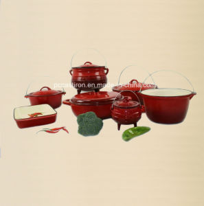 9PCS Enamel Cast Iron Cookware Set Supplier From China pictures & photos