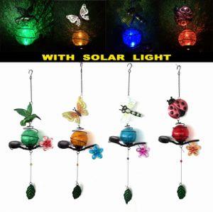 Glass Ball Solar Light Metal Hummingbird Garden Decoration pictures & photos