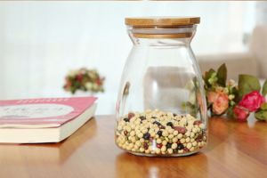 Simple and Beautiful Glass Storage Tank. Factory Outlet Glass Bottle pictures & photos