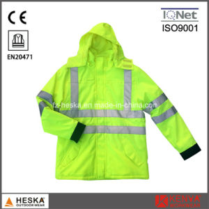 Winter Yellow Coat Reflective Work Jacket pictures & photos