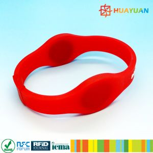 Dual Frequency Durable Silicone RFID Wristband for Envet Management pictures & photos