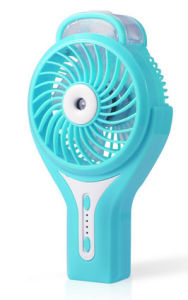 Portable Charging atomizing USB mini fan with 3 level wind speeding-Blue pictures & photos