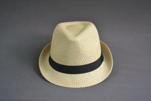 Khaki Blank Fedora Straw Hat for Men pictures & photos