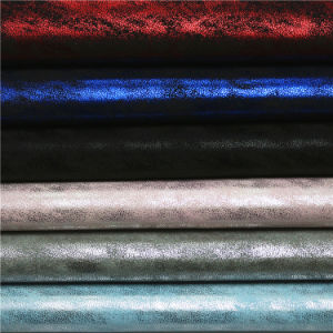 Cloud Synthetic PU Raw Material Leather for Footwear Fabrics pictures & photos