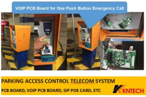 Parking Access Control Telecom System VoIP PCB Board Kn518 pictures & photos