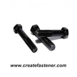 DIN931 Carbon steel Hex Bolt Blacked 8.8 pictures & photos