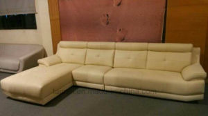 Modern L Shape Sectional Genuine Leather Sofa pictures & photos