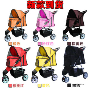 Customized 3 Wheels Pet Trolleys Dog Cart Outdoor Strollers pictures & photos