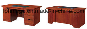 Mahogany Furniture Muebles De Oficina Modern Computer Table (FOH-AB161) pictures & photos