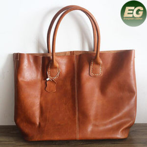 Retro Top Quality Women Soft Genuine Leather Tote Designer Handbags Emg4880 pictures & photos