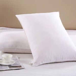 Solid Color 2-4cm Goose Feather Pillow pictures & photos